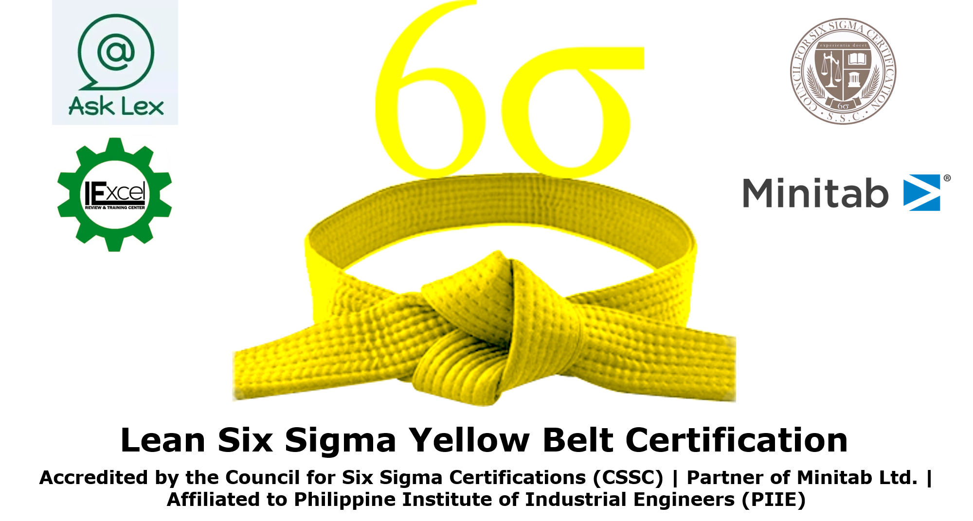 Lean six sigma yellow belt certification accredited by the lean six sigma yellow belt certification accredited by the council for six sigma certifications cssc asklex educational and review center xflitez Images